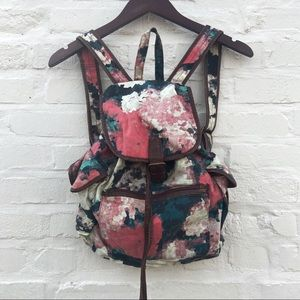 Urban Outfitters Abstract Floral Backpack